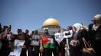 Mescid-i Aksada Filistinli tutuklulara destek gösterisi
