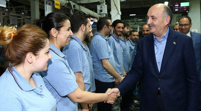 Bakan Müezzinoğlu fabrikaları ziyaret etti