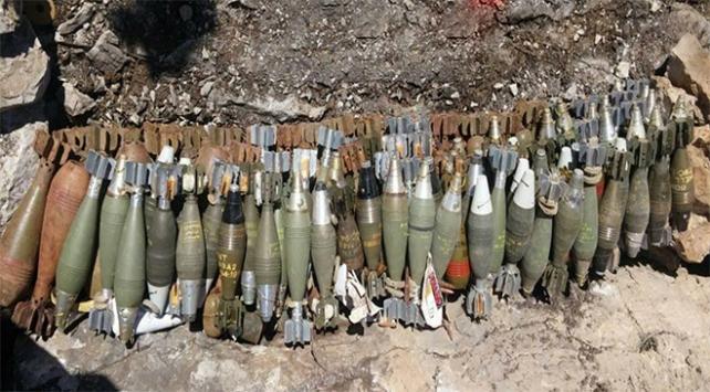 PKKya ait mühimmat ve patlayıcı ele geçirildi