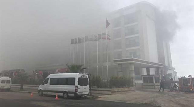 Orduda otelde çıkan yangın korkuttu