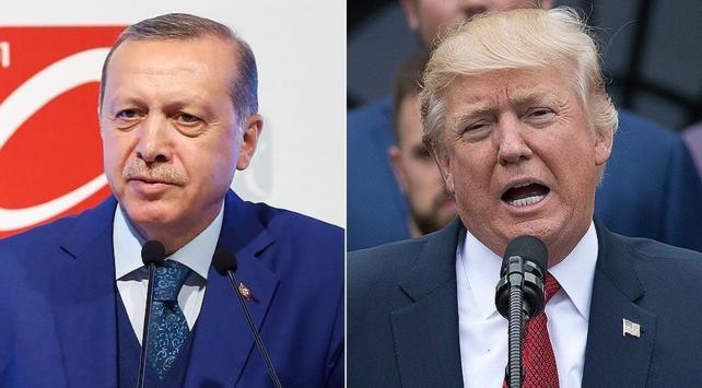 Cumhurbaşkanı Erdoğan, Trump tarafından resmi törenle karşılandı