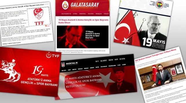Kulüp ve federasyonlardan 19 Mayıs kutlama mesajları