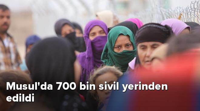Musulda 700 bin sivil yerinden edildi