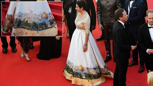İsrailli bakandan Cannes'da skandal elbise