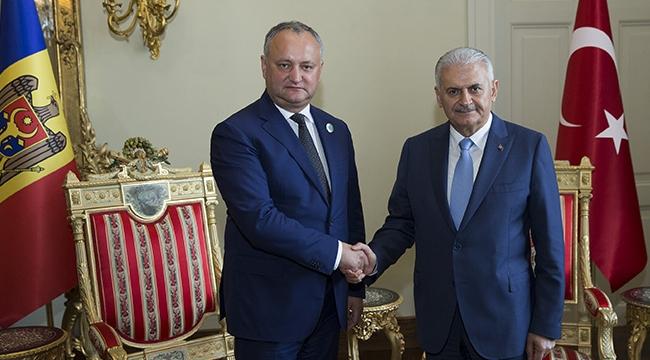 Başbakan Yıldırım Moldova Cumhurbaşkanı Dodon ile görüştü