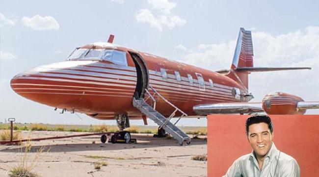 Elvis Presleyin özel uçağı açık artırmada