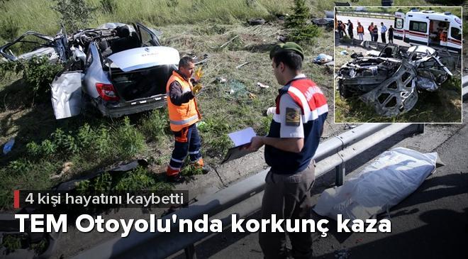 Düzcede trafik kazası: 4 ölü, 1 yaralı