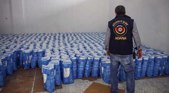 Adanada 8 ton sahte deterjan ele geçirildi
