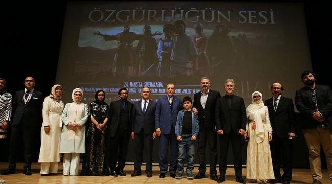 Cumhurbaşkanı Erdoğan Özgürlüğün Sesi-Bilal filmini izledi