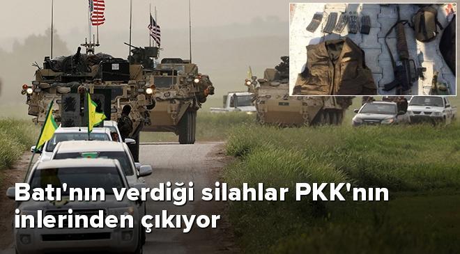 Batının verdiği silahlar PKKnın inlerinden çıkıyor