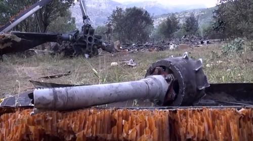 Şırnakta düşen askeri helikopterin enkazı görüntülendi