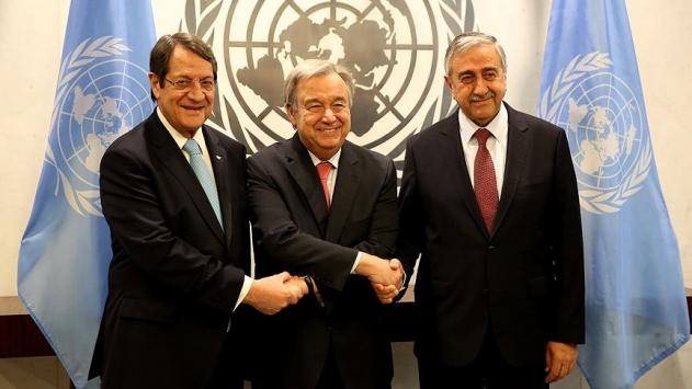 Guterres, Akıncı ve Anastasiadis ile görüştü