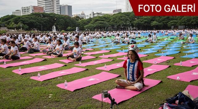 Meditasyon severler etkinliğe akın etti