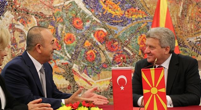 Dışişleri Bakanı Çavuşoğlu Makedonyada