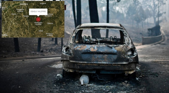 Portekizde durdurulamayan orman yangını 57 can aldı