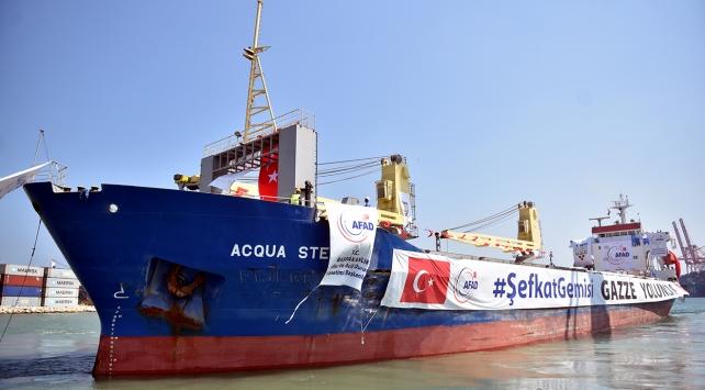 """Gazzeye giden """"şefkat"""" gemisi Mersinden yola çıktı"""