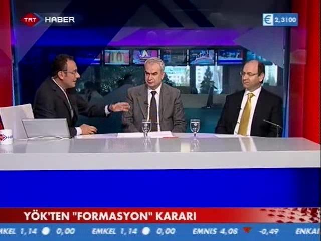 YÖKün Formasyon Kararı TRT Haberde Tartışıldı