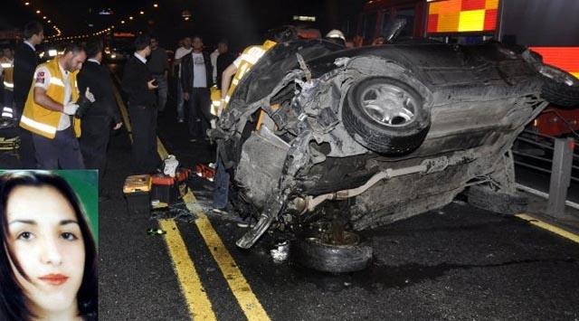 İstanbulda Otomobil Takla Attı