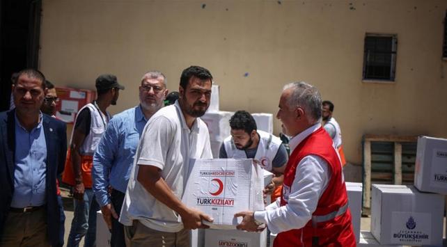 Türk Kızılayından Gazzeye gıda yardımı