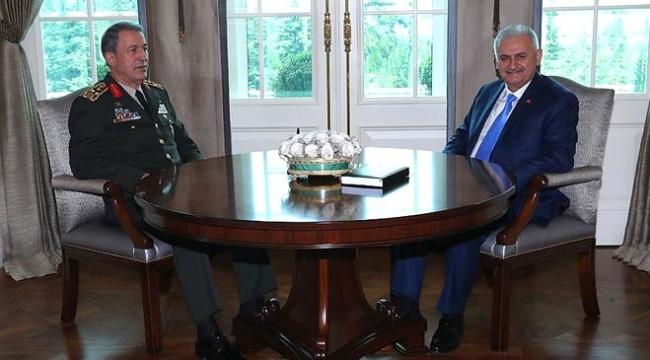 Başbakan Yıldırım Orgeneral Akarı kabul etti