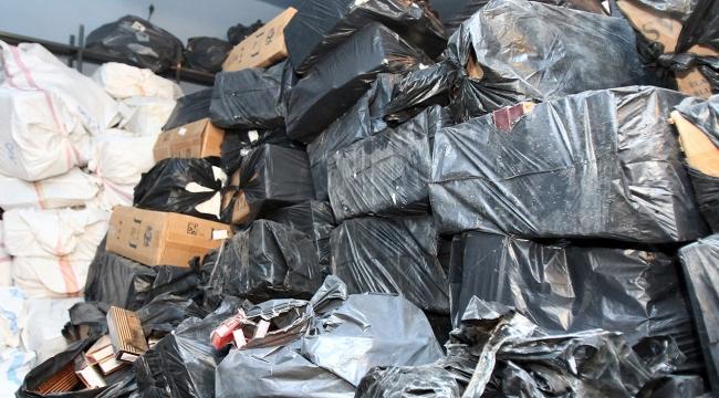 Çantaların içinden 31 bin paket kaçak sigara çıktı