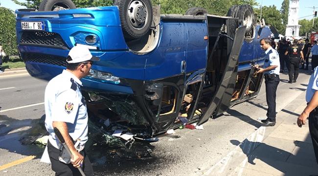 Başkentte korkutan kaza: 16 yaralı