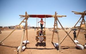 Suriyeli çocukların bayram eğlencesi