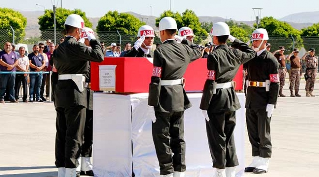 Şehit Uzman Çavuş Çetin için tören düzenlendi