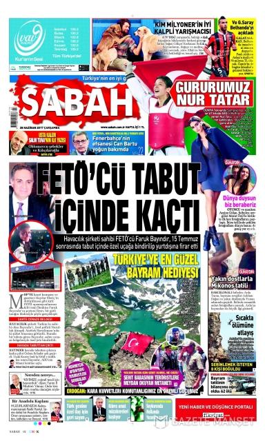 Gazete manşetleri (28 Haziran 2017)