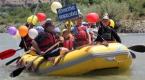 Rafting botlarıyla sünnet konvoyu yaptılar