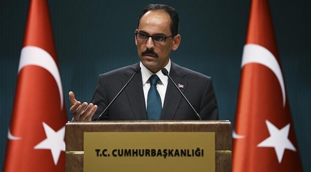 Kalın: Türkiye haklı davasında Filistinin yanındadır