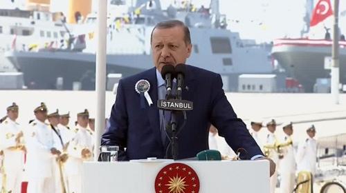 Cumhurbaşkanı Kınalıada Korveti'nin denize indirilme töreninde konuştu