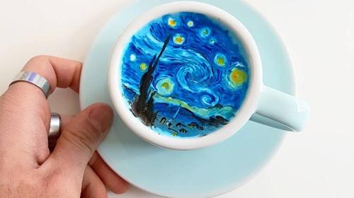 Güney Koreli kahve ustası harikalar yaratıyor