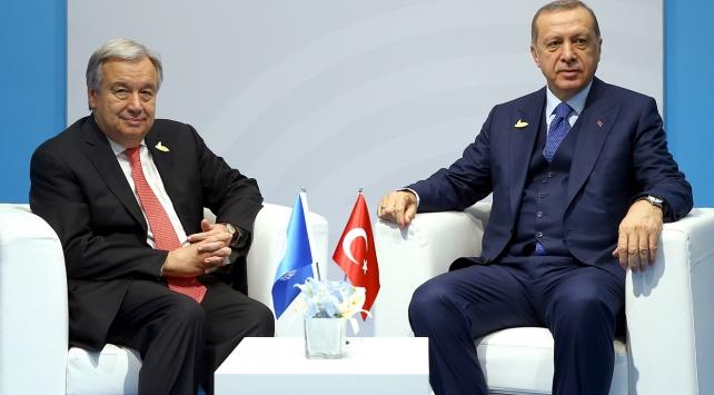 Cumhurbaşkanı Erdoğan G20de Guterres ile görüştü