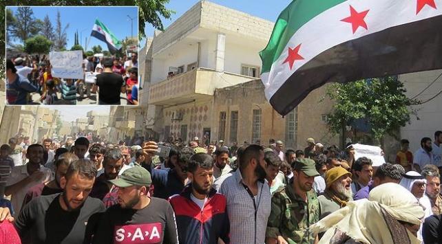 Suriyede Türkiyeye destek gösterisi