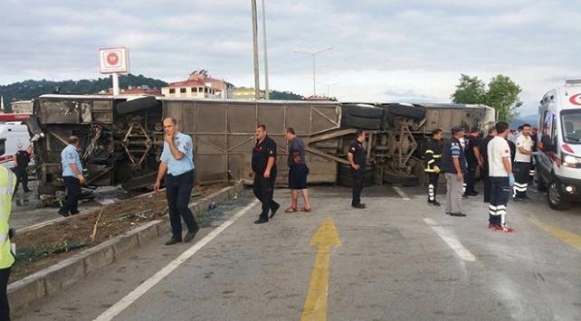 Giresunda tur otobüsü faciası: 38 yaralı
