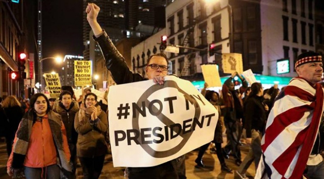 ABDde Trump rejimi gitmeli protestosu