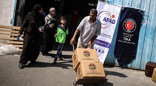 Türkiyenin Şefkat eli 29 bin Gazzeliye ulaştı