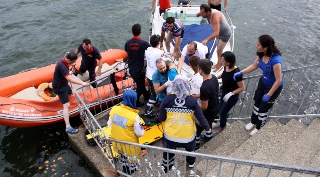 Kocaelide tekne alabora oldu: 1 ölü, 3 yaralı