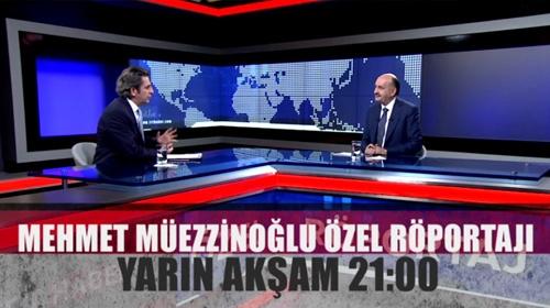Çalışma ve Sosyal Güvenlik Bakanı Mehmet Müezzinoğlu Özel Röportajı yarın TRT Haber'de