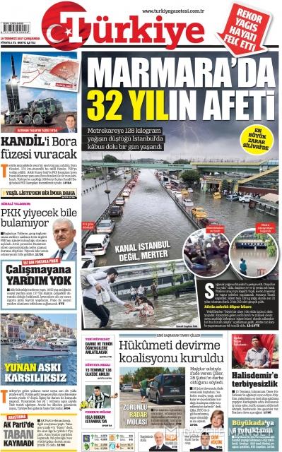 Gazete manşetleri (19.07.2017)