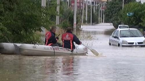 Şiddetli yağış en çok Silivriyi etkiledi