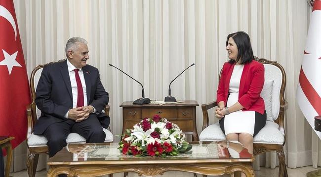 Başbakan Yıldırım KKTC Meclisi Başkanı Siber ile görüştü