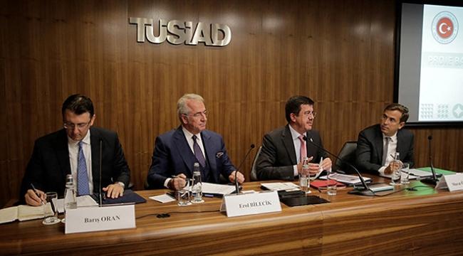 Ekonomi Bakanı Zeybekci TÜSİADı ziyaret etti