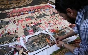 Suriyeli sanatçı 15 Temmuzu mozaiğe işledi