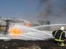 Tanker alev aldı 1 ölü 3 yaralı