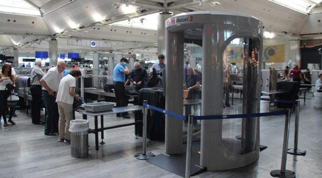 Atatürk Havalimanında vücut tarayıcı cihaz kullanımı başladı