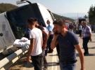 Sinop'ta yolcu otobüsü devrildi: 9 yaralı