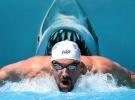 Michael Phelps köpek balığına karşı