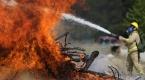 Bursada helikopter destekli yangın tatbikatı